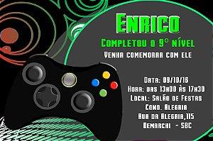 Convite digital personalizado Videogame 003