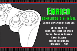 Convite digital personalizado Videogame 004
