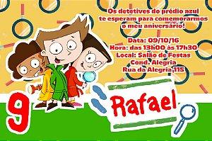 Convite digital personalizado D.P.A, Detetives do Prédio Azul 002