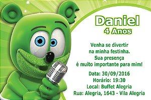 Convite digital personalizado Gummy Bear 001