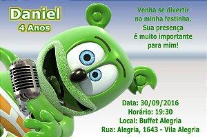Convite digital personalizado Gummy Bear 002