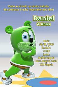 Convite digital personalizado Gummy Bear 004