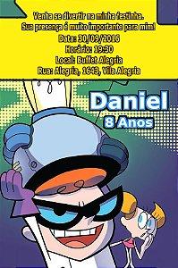 Convite digital personalizado O Laboratório de Dexter 002