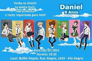Convite digital personalizado Digimon Adventure tri. 001