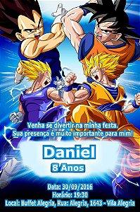 Convite digital personalizado Dragon Ball Z Kai 003