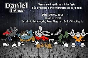 Convite digital personalizado KND - A Turma do Bairro 001