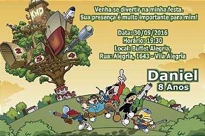 Convite digital personalizado KND - A Turma do Bairro 002
