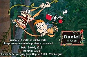 Convite digital personalizado Meu Amigo da Escola e um Macaco 001