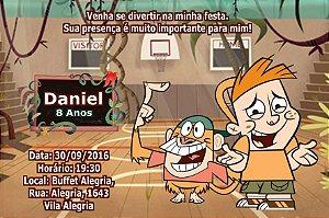 Convite digital personalizado Meu Amigo da Escola e um Macaco 002