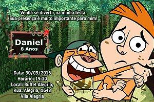 Convite digital personalizado Meu Amigo da Escola e um Macaco 003
