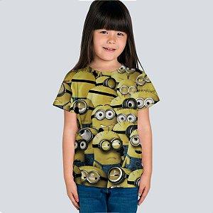 Camiseta Infantil Minions em Poliester
