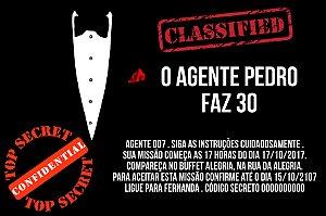 Convite digital personalizado Agente 007 - 002
