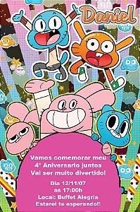Convite digital personalizado O Incrível Mundo de Gumball 004