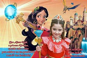 Convite digital personalizado Elena de Avalor 001 com foto