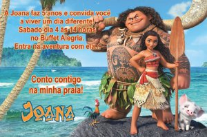 Convite digital personalizado Moana 001