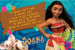 Convite digital personalizado Moana 005