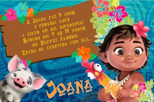 Convite digital personalizado Moana 006
