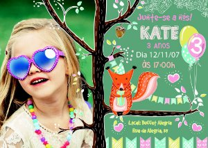 Convite digital personalizado de Aniversário 011