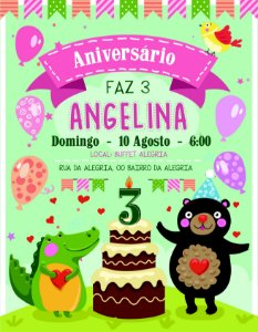 Convite digital personalizado de Aniversário 012