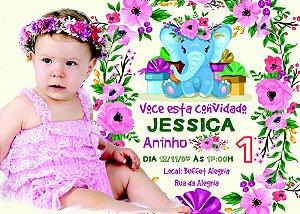 Convite digital personalizado Primeiro Aniversário 132