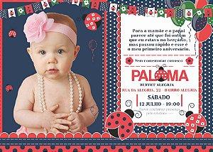 Convite digital personalizado Joaninha 013