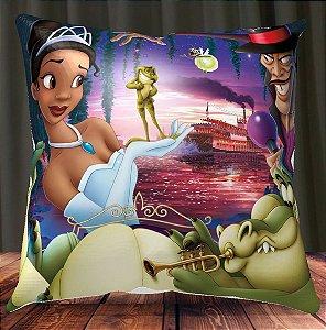Almofada Personalizada para Festa Princesa e o Sapo