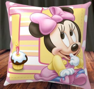 Almofada Personalizada para Festa Minnie Baby