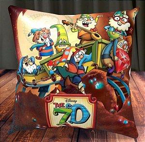 Almofada Personalizada para Festa Os 7A Disney