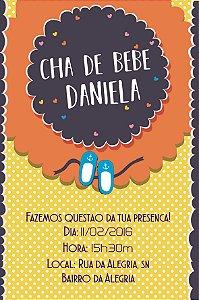 Convite digital personalizado para Chá de Bebê 062