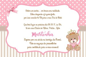 Convite digital personalizado para Chá de Bebê 066