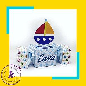 Caixa Bala Brinquedos com aplique 3D