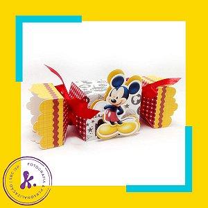 Caixa Bala Mickey com aplique 3D