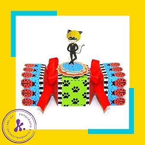 Caixa Bala Miraculous As Aventuras de Ladybug com aplique 3D