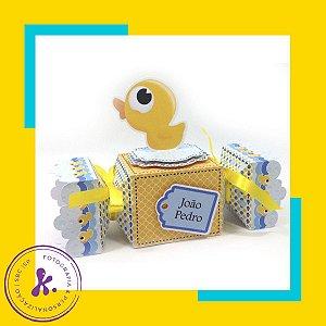 Caixa Bala Patinho Amarelinho com aplique 3D