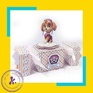 Caixa Bala Patrulha Canina com aplique 3D