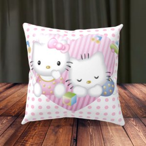 Almofada Personalizada para Festa Hello Kitty Baby