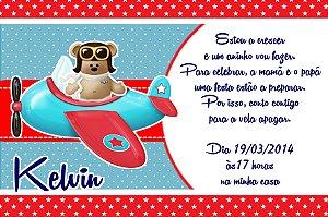 Convite digital personalizado Ursinho Aviador 004