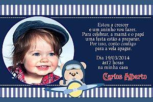 Convite digital personalizado Ursinho Aviador 005