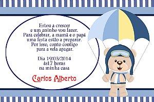 Convite digital personalizado Ursinho Aviador 006