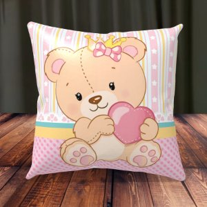 Almofada Personalizada para Festa Ursinha Princesa