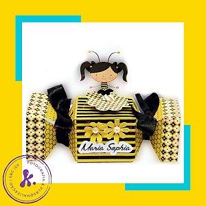 Caixa Bala Abelhinha com aplique 3D