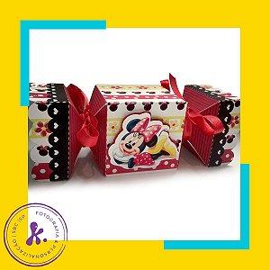 Caixa Bala Minnie Vermelha com aplique 3D