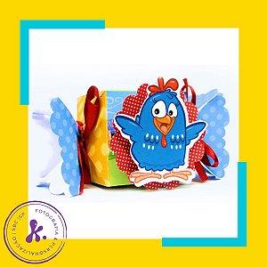 Caixa Bala Galinha Pintadinha 1 com aplique 3D
