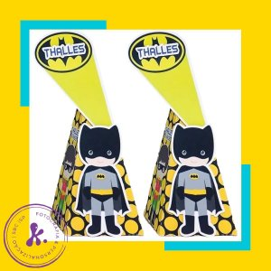 Caixa cone Batman 3 com aplique 3D