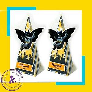 Caixa cone Batman Lego com aplique 3D