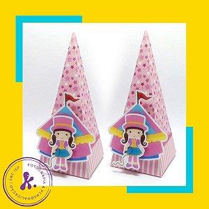 Caixa Cone Circo Menina com aplique 3D