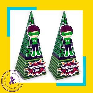 Caixa Cone Lanterna Verde 1 com apliques 3D  2