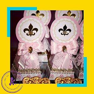 Caixa Cone Princesa com aplique 3D