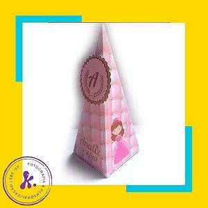 Caixa Cone Princesa 2 com aplique 3D