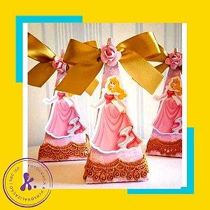 Caixa Cone Princesa Aurora com aplique 3D